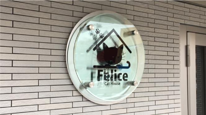 ガラスのような看板・かわいい看板