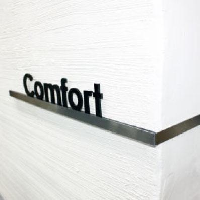 L型 ステンレスのマンション看板